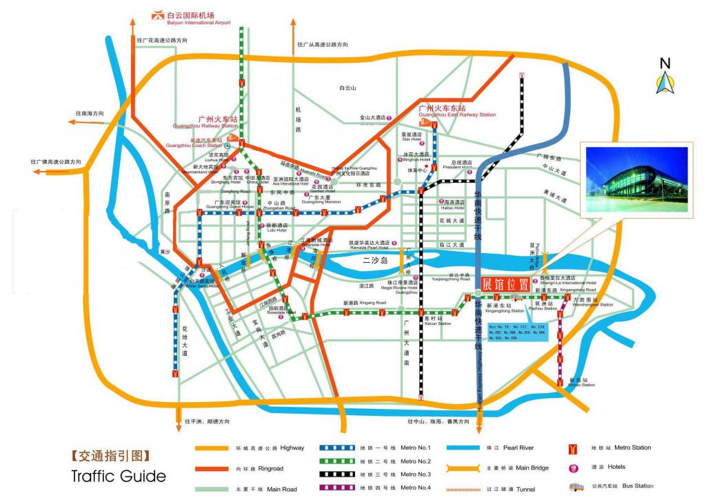 map Guangzhou Chinese Import & Export Commodities Complex